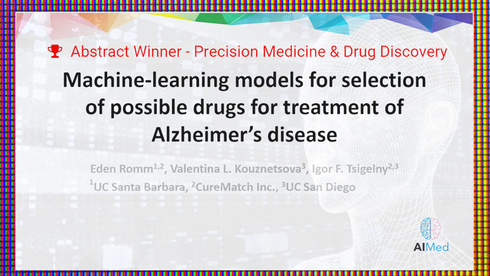 CureMatch Presents Winning Personalized Medicine & Drug Discovery Abstract at AIMed