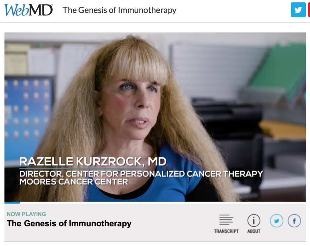 "CureMatch Co-Founder Featured in WebMD Video ""The Genesis of Immunotherapy"""