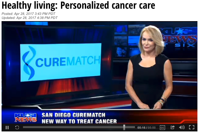 "KUSI Evening News ""Healthy Living"" covers CureMatch's ..."
