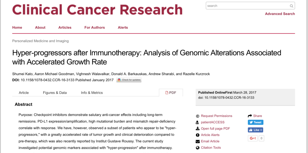 CureMatch Co-Founder Publishes Influential Study on Immunotherapy