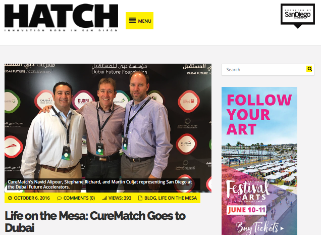 Hatch Magazine Highlights CureMatch in Dubai