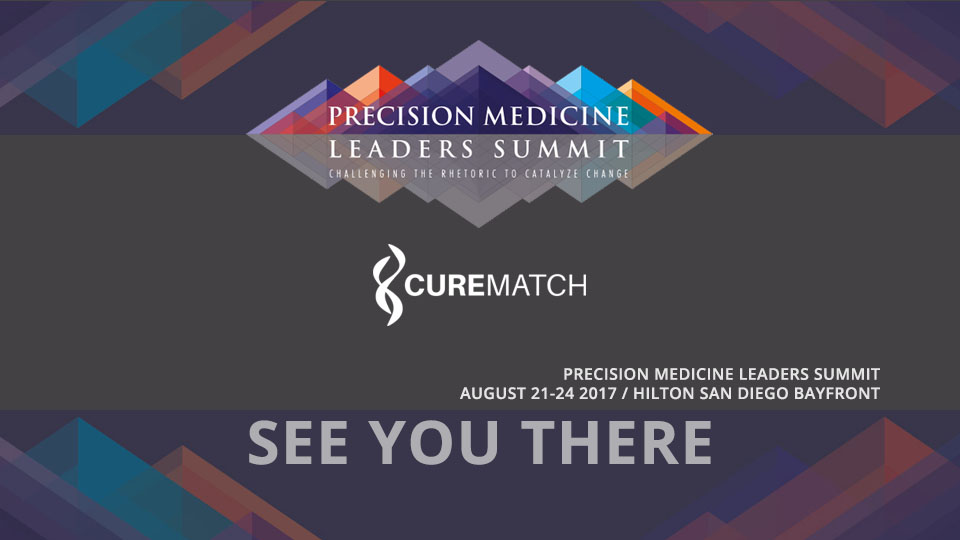 CureMatch Exhibits at Precision Medicine Leaders Summit 2017