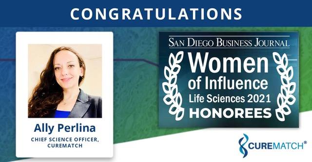 Ally Perlina Honored As a Woman of Influence for Life Science